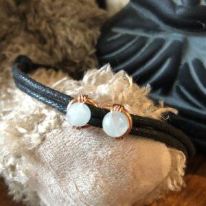 Bracelet lemniscate cuivre et aigue-marine