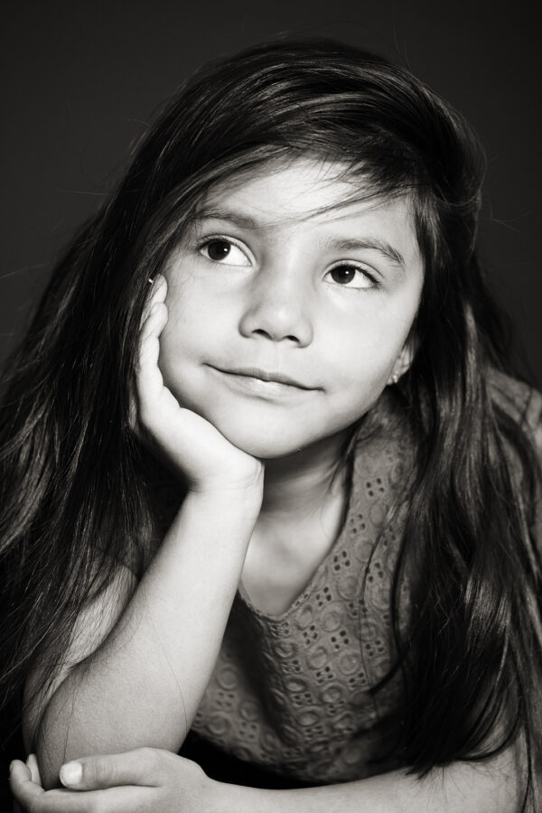 Portraits enfant noir blanc
